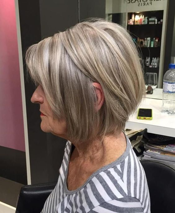 10 Cute Short Blonde Haircuts for Older Women (Updated 2021) Ash-and-platinum-blonde-highlights