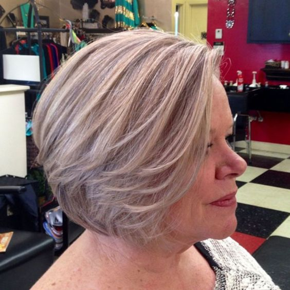 10 Cute Short Blonde Haircuts for Older Women (Updated 2021) Blonde-with-ash-lowlights