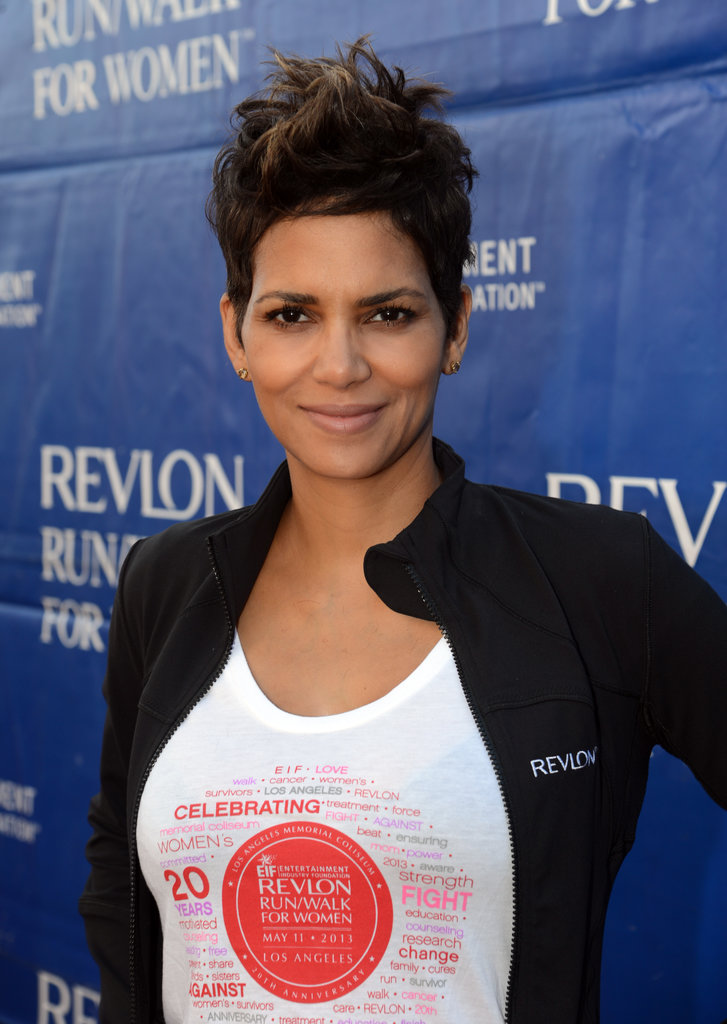 Best Celebrity with Short Pixie Hairstyles Halle-Berry-with-Short-Pixie-Hairstyles