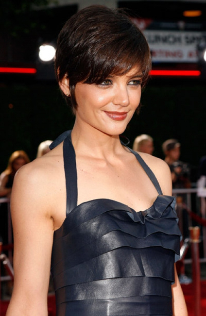 Cute Short Haircuts with Bangs 2014 Katie-Holmes-New-Short-Haircuts-with-Bangs