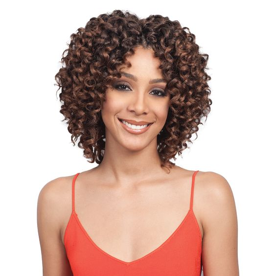 Kinky curly hairstyles with bangs