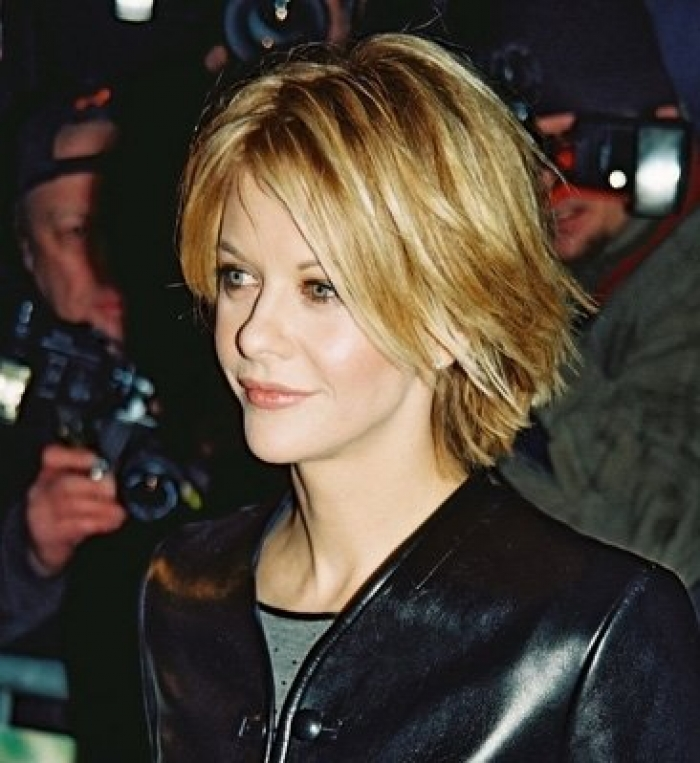 Cute Short Choppy Hairstyles for Girls Meg-Ryan-Short-Choppy-Hairstyles