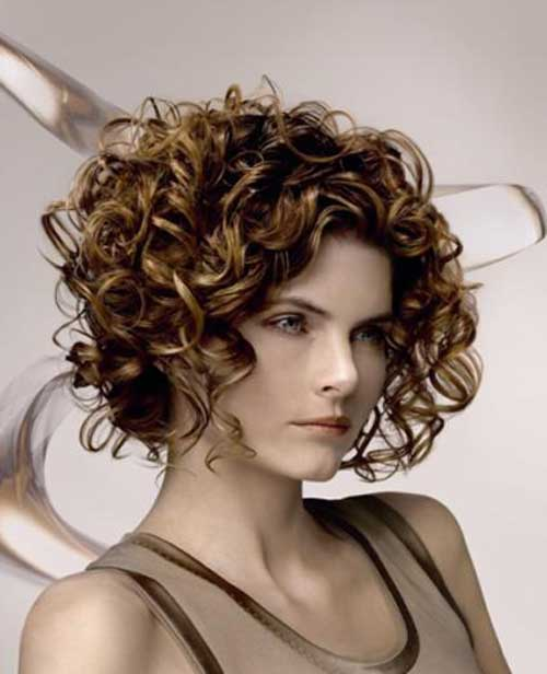 Cute Short Curly Haircuts for Beautiful Women Cute-Short-Curly-Brown-Haircuts