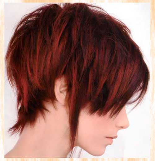 Best Hair Color Ideas for Short Hair 2013 Red-Dark-Color-Ideas-for-Short-Hair