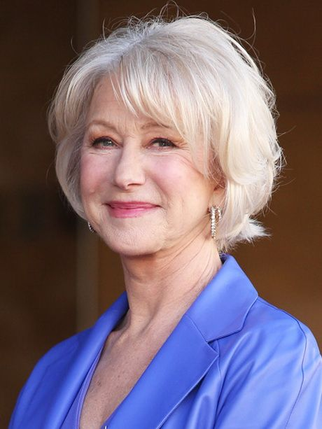 Cute short hairstyle for women over 60 5