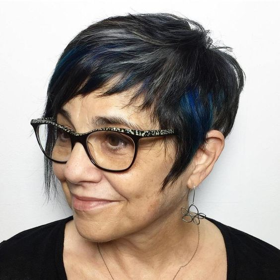 beautiful short thick hair for older women 1