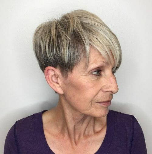 cute pixie haircut styles pictures for women over 60 with thin hair