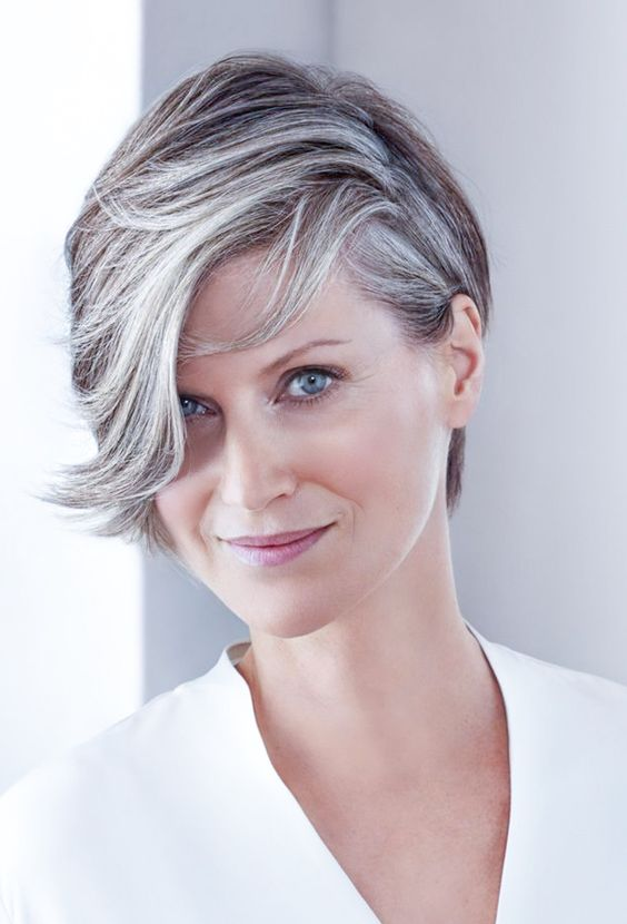 Perfect short haircut for women over 60 with oval face 5