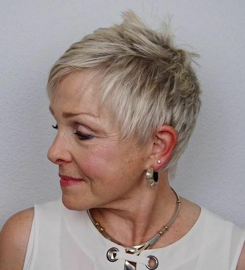 cute pixie haircut styles pictures for women over 60 with square face