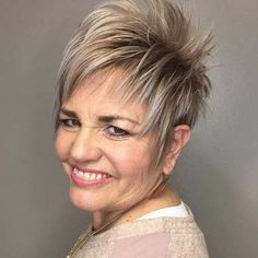 beautiful short thick hair for older women 3