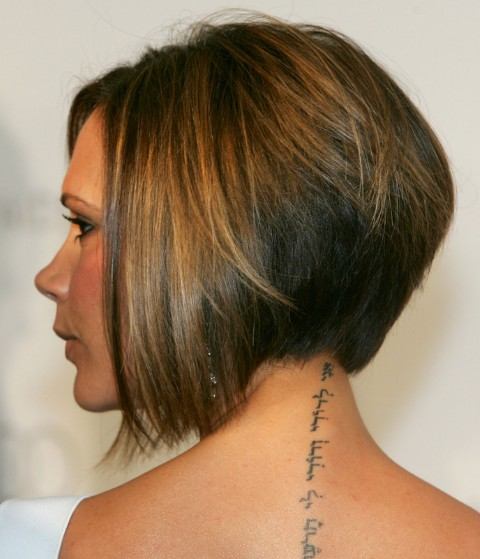 Victoria Beckham Inverted Bob Hairstyles for Fine Hair