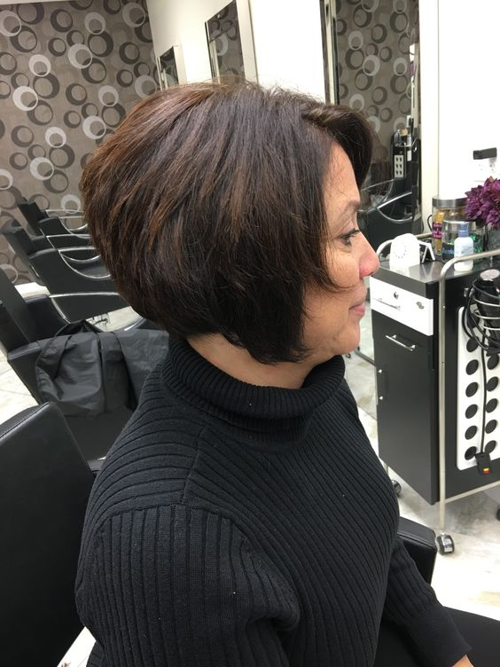 Jaw Length Stacked Bob Hairstyle 1 Short Hairstyles 2019