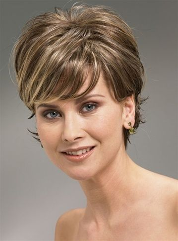 Pretty Short Layered Haircuts for Women Over 50 1