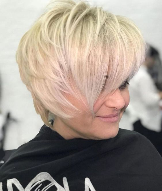 Cute Short Layered Haircuts for Women Over 50 3