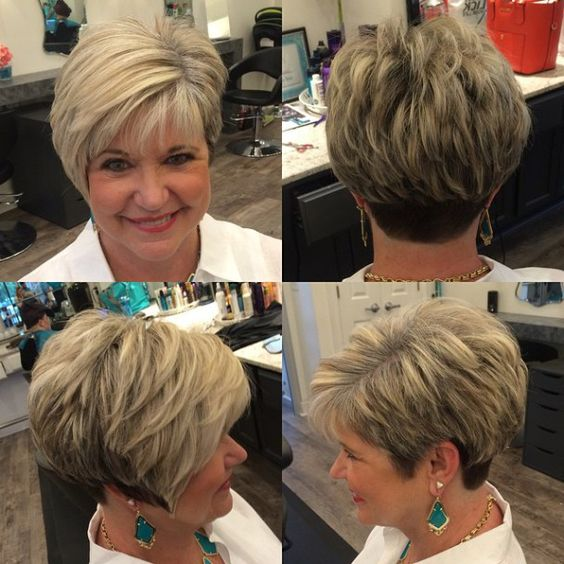 Cute Short Layered Haircuts for Women Over 50 1