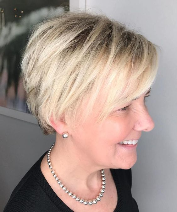 Cute Short Layered Haircuts for Women Over 50 5