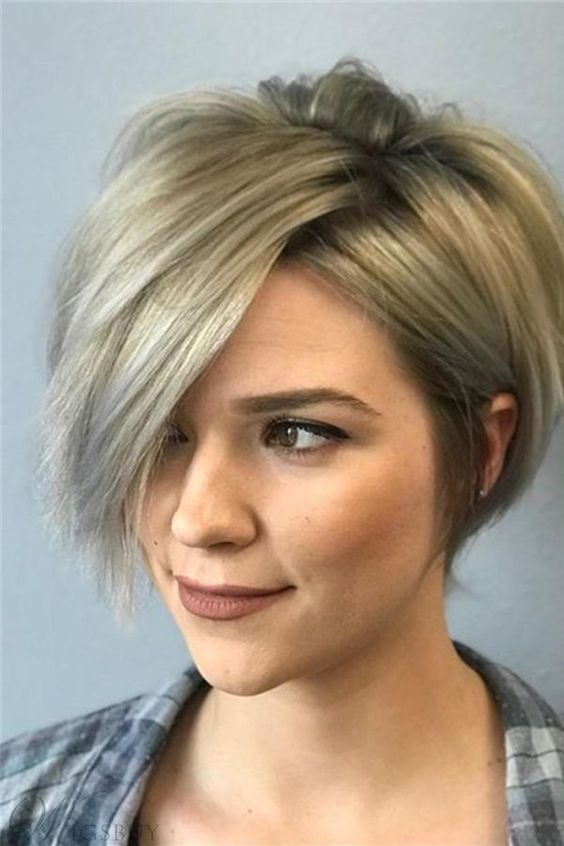 20 Stunning Short Angled Bob Hairstyles for Older Women (Updated 2021) Angled-pixie-bob