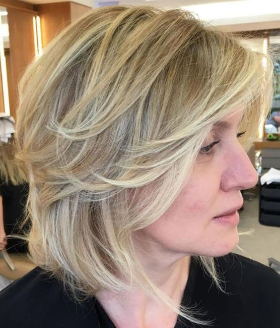 20 Stunning Short Angled Bob Hairstyles for Older Women (Updated 2021) Angled-shaggy-bob