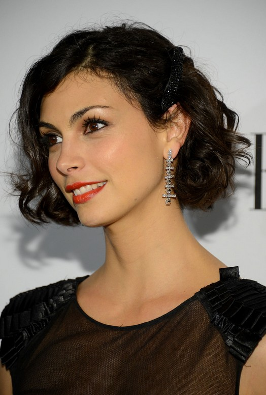 New Short Curly Bob Hairstyles Morena-Baccarin-Short-Curly-Bob-Hairstyles