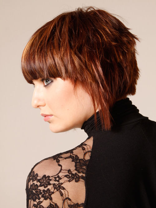 Short Angled Choppy Bob Hairstyles