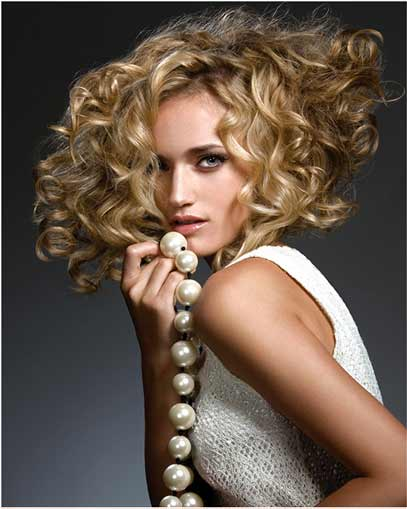 Spiral Perms Hairstyles for Short Hair