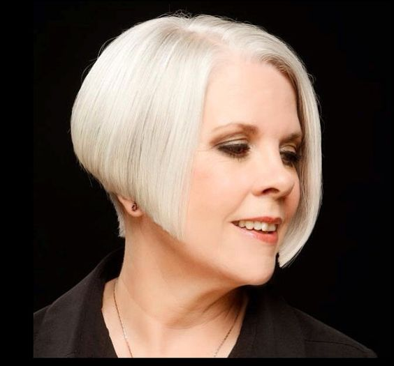 20 Stunning Short Angled Bob Hairstyles for Older Women (Updated 2021) Stacked-angled-bob-with-undercut