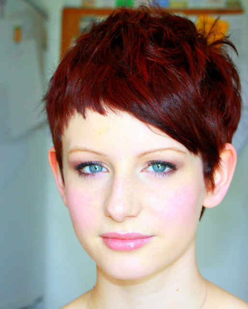 Pixie Hairstyles for Short Red Hair