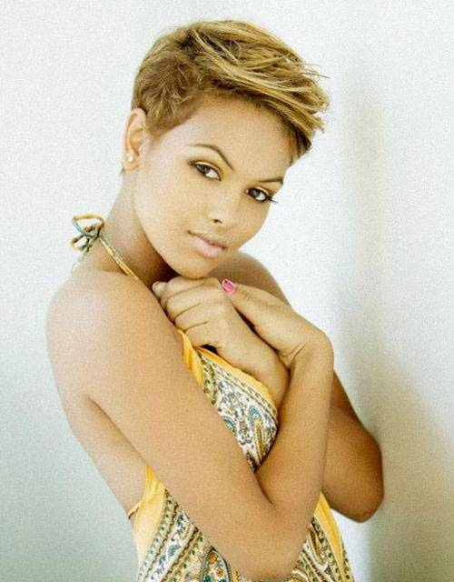 2014 Short Pixie Hairstyles for Black Women