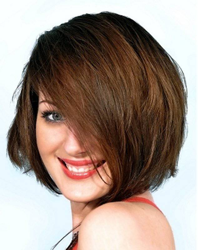 Beautiful Short Hairstyles for Round Faces 2014