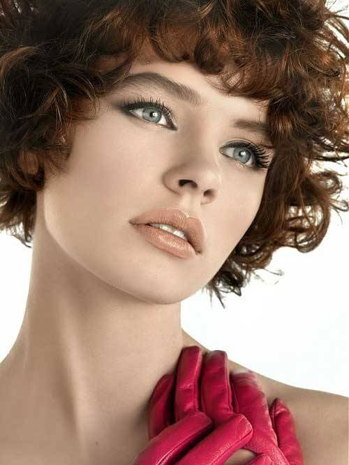 short curly hairstyles for black round faces 2014