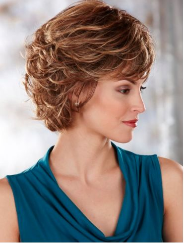 Perfect short shag haircut style for women over 50 1