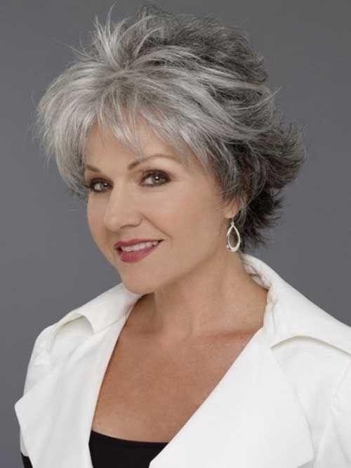 Perfect short shag haircut style for women over 50 6