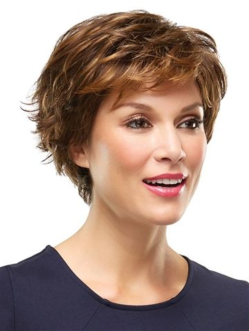 Perfect short shag haircut style for women over 50 3