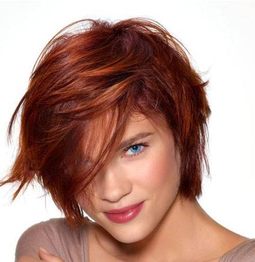 Cute Red Hair Color for Short Hair