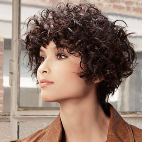 Short Haircuts for Curly Hair and Round Face