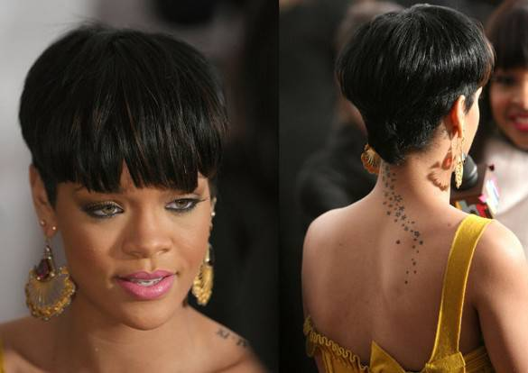 african american short hairstyles back view