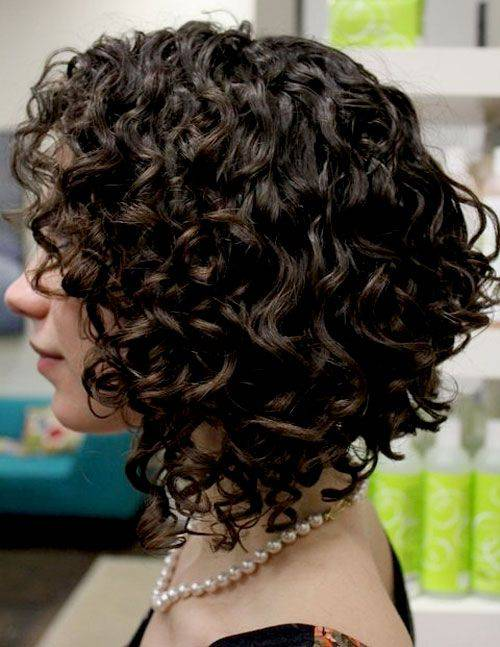 2014 Short Stacked Curly Bob Hairstyles