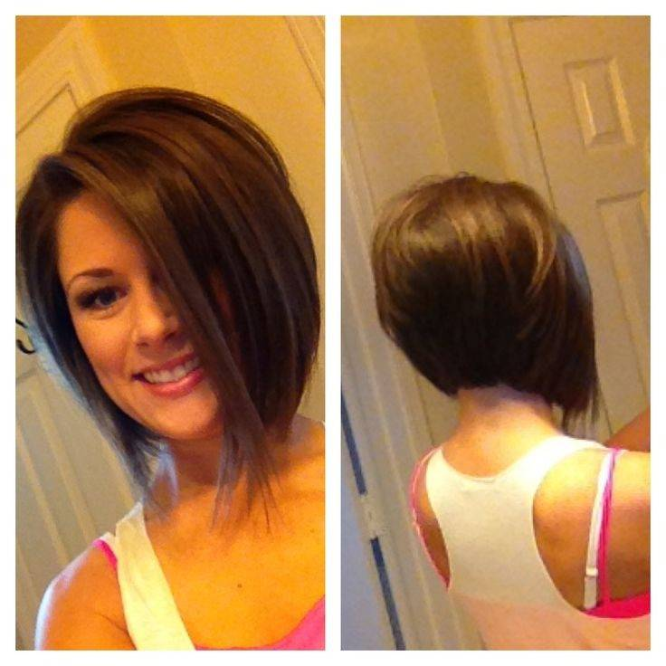 short stacked angled bob hairstyles