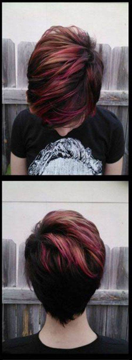 New Short Hairstyles and Highlights Short-Hairstyles-with-Red-Highlights