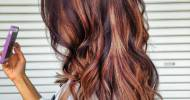 Dark Brown Hair With Blonde And Red Highlights