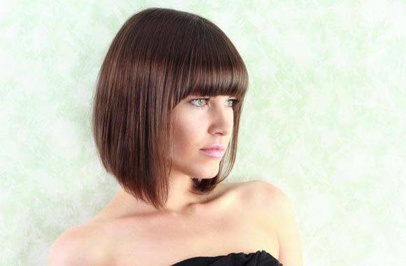 short bob hairstyles with bangs for thick hair
