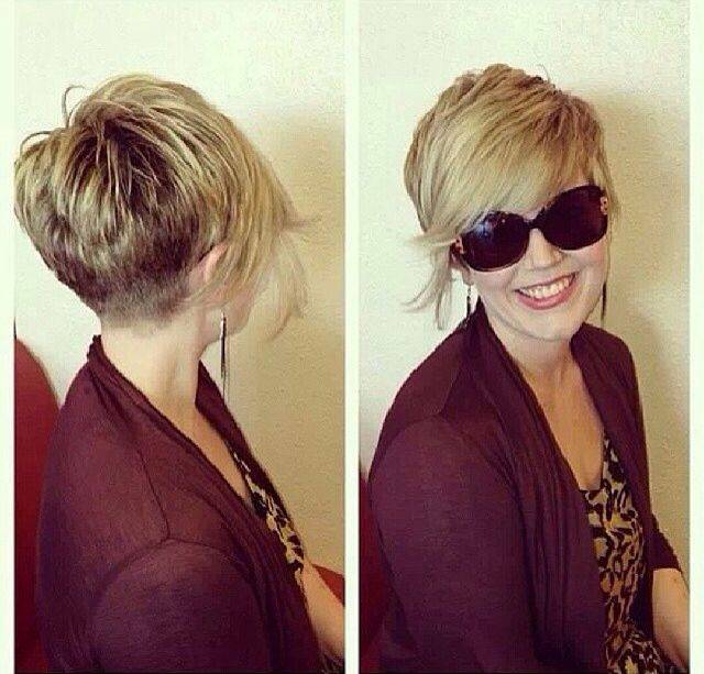 short pixie cuts with long bangs
