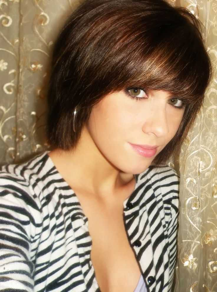 short haircuts with bangs and highlights