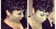 Short Black Hairstyles With Curls