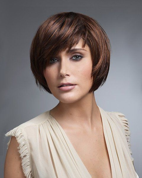 short layered bobs for round faces