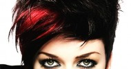 Red And Black Hairstyles For Short Hair