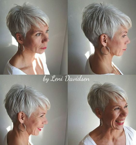Gray wedge haircuts for older women 5