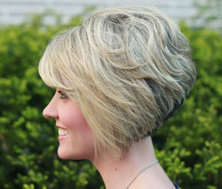 short inverted bob haircut with bangs