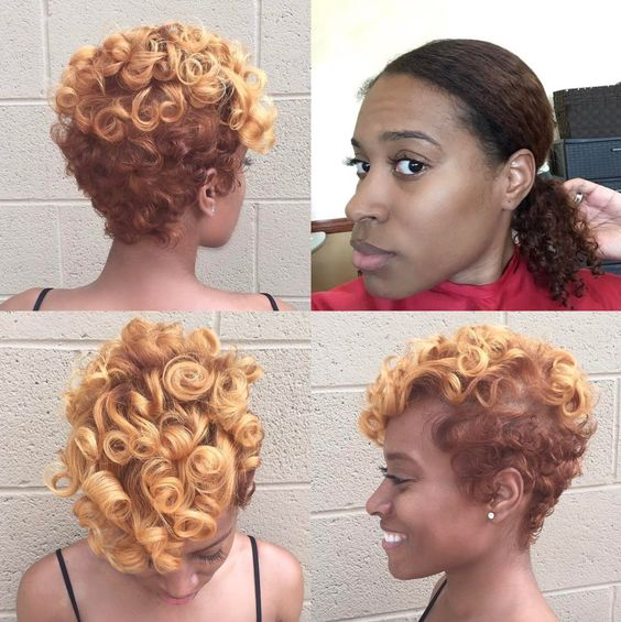 Big Soft Curls Hairstyle for African American Women 2