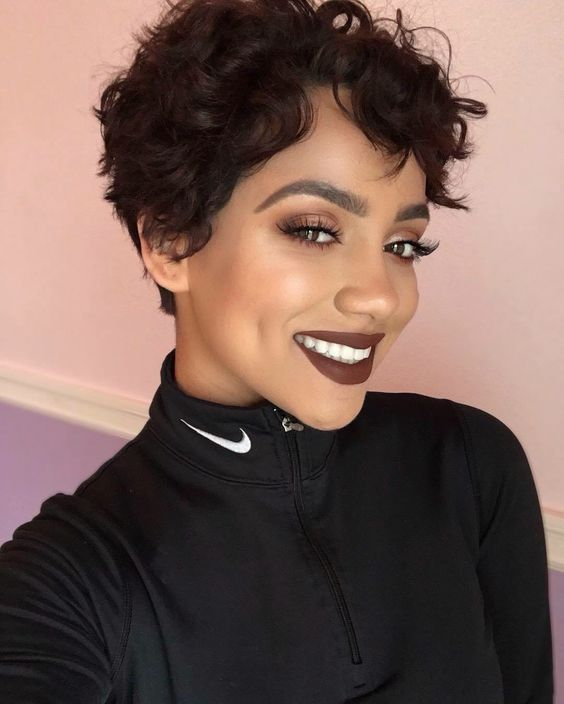 Curly Pixie Haircut Style for Black Women 9